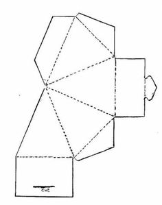Triangle Box Template ChirstmasCountdown Patterns Craft Diy Paper