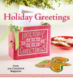 Holiday Greetings from the Nov/Dec 2014 issue of Just CrossStitch Magazine. Order a digital copy here: https://www.anniescatalog.com/detail.html?code=AM53356