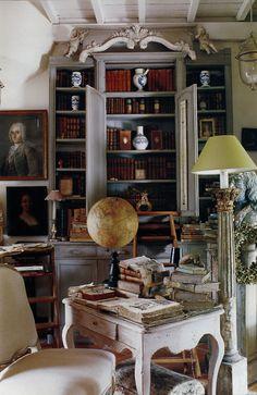 .Living room bookshelves