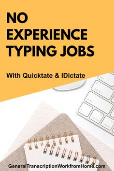 No Experience Typing and transcription jobs from home for beginners. Get flexible online transcription jobs NO Experience Required. Quicktate is one of the easiest transcription companies to work for when getting started in transcription and they hire transcriptionists worldwide. Read my review. Transcription Jobs From Home, Transcription Jobs For Beginners, Typing Jobs From Home, Flexibility, Type, Back Walkover
