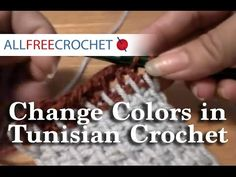 Color Work Changes wiith Tunisian Crochet Part 1 - YouTube