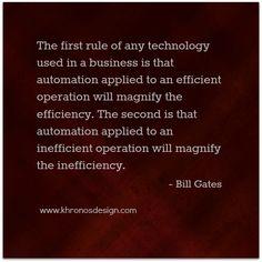 Quote - Bill Gates | www.khronosdesign.com/blog #GrowinNLovintheBIZ #Entrepreneurs