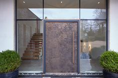 Bronzed and Beautiful - Urban Front - Contemporary Front Doors UK Front Door Entrance, Exterior Front Doors, House Entrance, Front Door Decor, Entry Doors, Modern Entry Door, Contemporary Front Doors, Front Door Images, Front Door Design