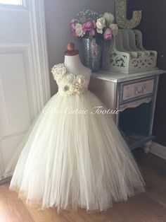 Hey, I found this really awesome Etsy listing at https://www.etsy.com/listing/230141894/ivory-flower-girl-tutu-dress-flower-girl
