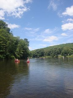 Canoes on the Clarion River