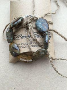 Excited to share the latest addition to my #etsy shop: Jasper Gemstone Bracelet, Edinburgh Jewellery, Handmade Jasper Bracelet, Designer Jasper Bracelet, Scottish Jewellery
