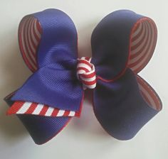 Fourth of July Hairbow, 4th of July Hair Bow, Red White Blue Hairbow, Boutique Hairbow, Patriotic Hairbow, Memorial Day Bow, Toddler Hairbow by JazzyandSassyDesigns on Etsy