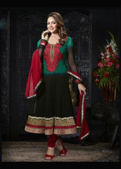 Buy Bollywood Anarkali Churidar Suit US$ 63.72 Shop at - bollywood-ankle-length-anarkali.blogspot.co.uk/2014/03/buy-bollywood-anarkali-churidar-suit-us.html