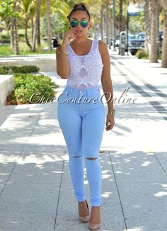 Chic Couture Online - Kenya Baby Blue Denim Cut-Out Knees Jeans.(http://www.chiccoutureonline.com/kenya-baby-blue-denim-cut-out-knees-jeans/)