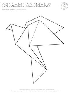 Origami animal coloring pages as string ideas