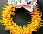 Butterscotch Candy Wreath Edible Birthday Gift