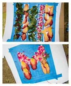 How to make DIY art using flowers as dye!