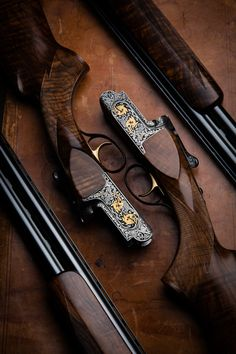 A pair of Perazzi, MX12 SCO/O with deluxe engraving. Via Westley Richards.