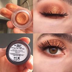 ・ ・ asi Farmasi Orange Pop Cream Eye Shadow 🍊 The structur. - ・ ・ asi Farmasi Orange Pop Cream Eye Shadow 🍊 The structure is very soft and - Creamy Eyeshadow, Dark Eyeshadow, Eyeshadow Makeup, Eyeshadow Palette, Makeup Palette, Mascara, Make Up Dupe, Makeup Tips, Beauty Makeup