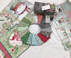 Snow Fun - Menagerie - PROMO Fat Quarter bundle (16) 18 x 21 pieces + 3 PANELS!  - Cori Dantini - Blend - ADORABLE Christmas prints! - Fat Quarter Bundle ONLY