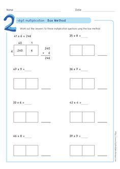 4 nbt 5 area model multiplication worksheet 2 digit x 2 digit math pinterest math. Black Bedroom Furniture Sets. Home Design Ideas