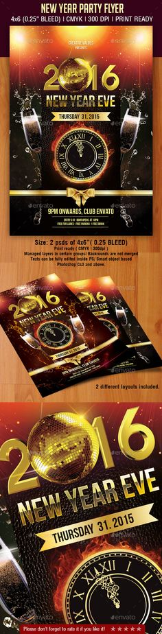 Chalk New Year Party Flyer  Party Flyer Flyer Template And Graphics