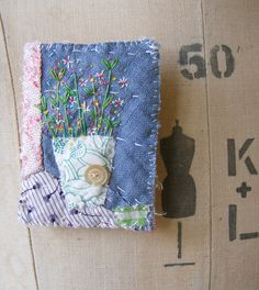 This is sold but I think this is so pretty! Handmade Brooch hand embroidered flowers by hensteeth on Etsy Fabric Jewelry, Textile Jewelry, Jewellery, Fabric Brooch, Textiles, Thread Art, Brooches Handmade, Vintage Quilts, Ribbon Embroidery