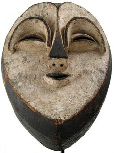 Mask, Kwele, Tsogo or Vuvi, Gabon by ann porteus, Sidewalk Tribal Gallery, via Flickr