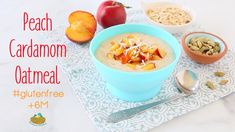 Peach Oatmeal Baby Food Recipe +6M Baby Puree Recipes, Baby Food Recipes, Peach Oatmeal, Kid Friendly Meals, The Creator, Gluten Free, Fruit, 12 Months, Breakfast
