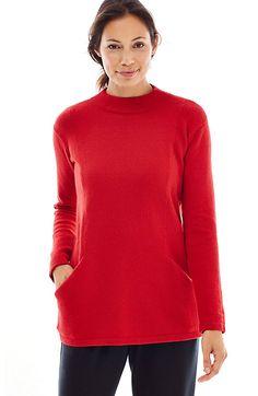 Pure Jill soft funnel-neck pullover