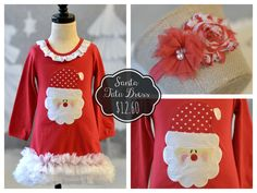 Santa Tutu Dress:  on sale through 11/3/15.  Add on the matching headband to complete the look!
