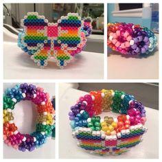 Rainbow 3d kandi cuff!