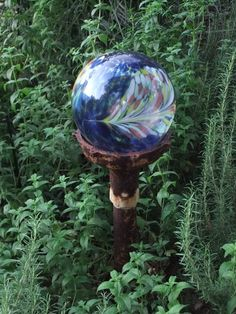 Glass balls for garden art