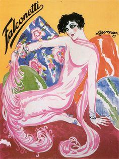 French actress Renee Jeanne Falconetti by Gesmar