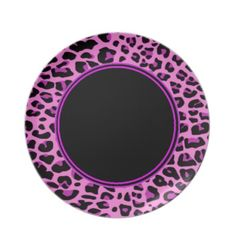 Pink Leopard Plate by elenaind