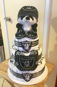 Oakland Raiders Diaper Cake