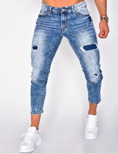 Jeans homme pas cher, jeans Redskins, jean Sixth June - Jeans Industry Ripped Jeans Men, Jeans Pants, Denim Jeans, Mom Jeans, Men Street Look, Destroyed Jeans, Danish, Summer Outfits, Zara