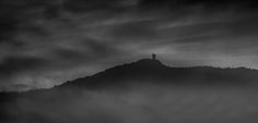 The Castle - This was taken looking out from Collioure in south west France, where there appears to be a ruined castle perched on top of the mountain.