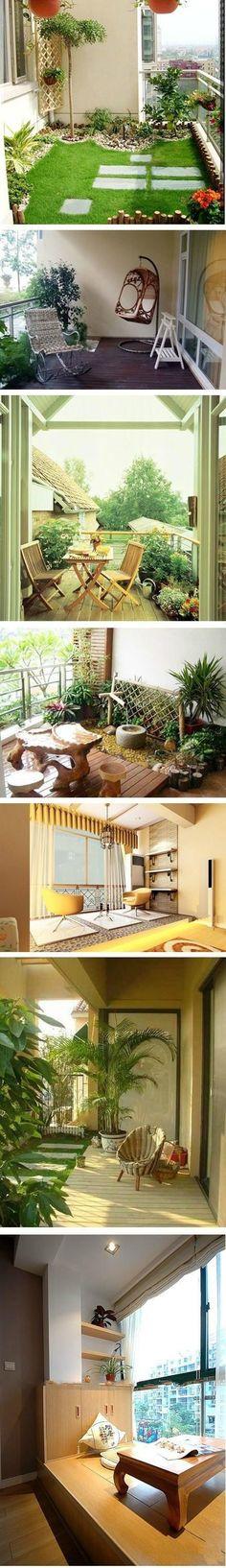 Top Creative Works » 7 excellent balcony designs