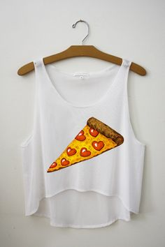 Pizza Crop Top! - www.hipstertops.com #pizza #teenposts #teenfashion #teenclothing #hipstertops
