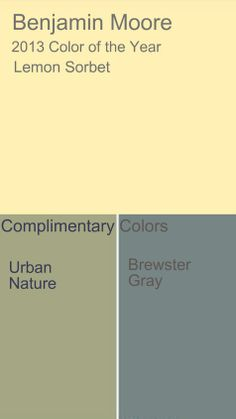 Colors that compliment lemon sorbet color of the year - san - urban nature lol