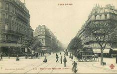Boulevard de Magenta. 10ème arr. Paris 1900, Old Paris, Paris France, Magenta, Le Marais Paris, Canal Saint Martin, Saint Denis, Old Street, Street Photography