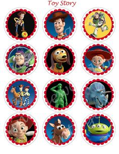 TOY STORY Craft Circles   WoodyBuzz Lightyear by vintagewarehouse, $2.50