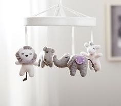 Knit Animal Friends Crib Mobile | Pottery Barn Kids - $59 (less 20% is $47.20)