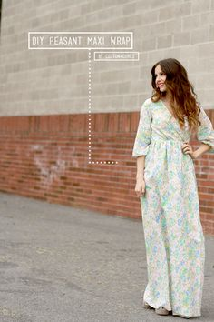 DIY Peasant Maxi Wrap Tutorial ✂ ✂✂ SUPER cute without the long sleeves