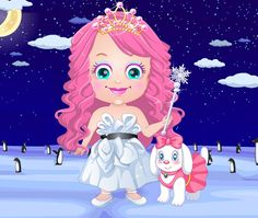 Baby Hazel is the Ice Princess and you need to dress her up in the most amazing dress you've ever seen!