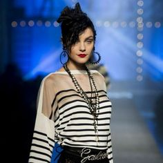 Jean Paul Gaultier has reinvented the marine look for his Spring Summmer 2013 show in Paris