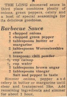 Homemade Barbecue Sauce – Recipe Clipping   RecipeCurio.com: