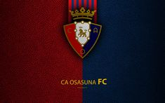 Download wallpapers CA Osasuna FC, 4K, Spanish Football Club, leather texture, logo, LaLiga2, Segunda Division, Pamplona, Spain, Second Division, football