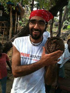 Tribe member at John Obey Beach