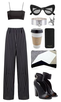 """///"" by mimiih ❤ liked on Polyvore featuring mode, Miss Selfridge, H&M, Laurence Dacade, Narciso Rodriguez, Illesteva, rag & bone, Betony Vernon et House of Harlow 1960"