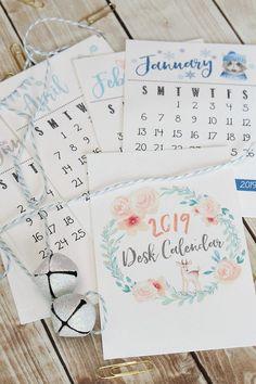new Ideas hat organization free printable Desktop Calendar, 2019 Calendar, Desk Calendars, Daily Calendar, Calendar Ideas, Planner Ideas, Floral Printables, Free Printables, Printable Crafts