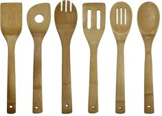 Oceanstar 6-Piece Bamboo Cooking Utensil Set