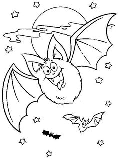bat coloring pages we have one such interesting coloring page activity for your kid that