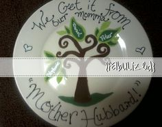 Custom hand painted family tree plate. Great gift for any special occasion or holiday <3 $10
